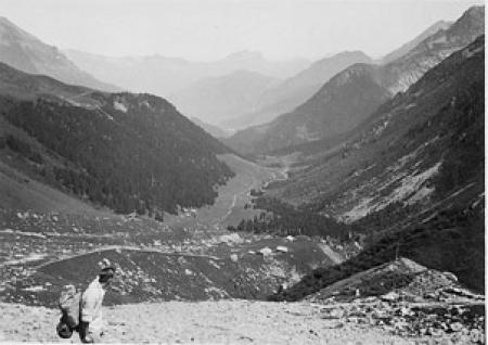 [Escursionista sul Monte Bianco]