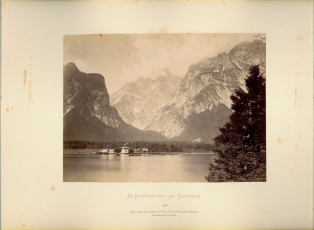 [Svizzera: Eiger e Mönch. Austria: Innsbruck. Germania: Berchtesgaden, Santuario St. Bartholomä sul lago Königssee. Località non identificata]