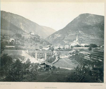 [Val Pusteria: Rio Pusteria. Dintorni di Innsbruck: Tunnel dell'Ahrenwald (Ferrovia del Brennero)]