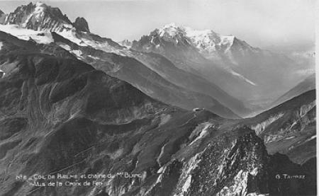 n. 2 - Col de Balme et chaîne du Mt. Blanc vus de la Croix de Fer