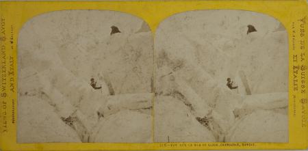215-Vue sur la Mer de Glace, Chamounix, Savoie
