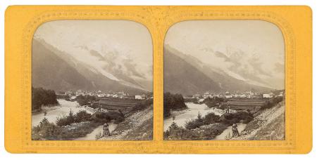 L'Arve mit Mont Blanc bei Chamonix (Savoye)