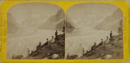 39.-La Mer de Glace Montanvert Chamounix. Savoie