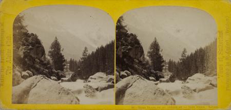 50.-Mont Blanc vu du Chemin de la Tête Noire. Savoie