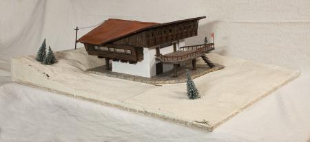 Modello architettonico della Capanna Mollino