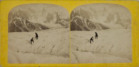 212.-Le Glacier et l'Aiguille du Géant Chamounix Savoie