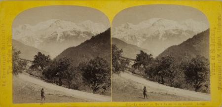221.-Le sommet du Mont Blanc vu de Servoz. Savoie.
