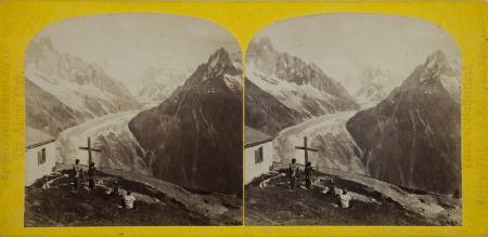 327.-La Mer de Glace, vue de la Flégère, Chamounix. Savoie