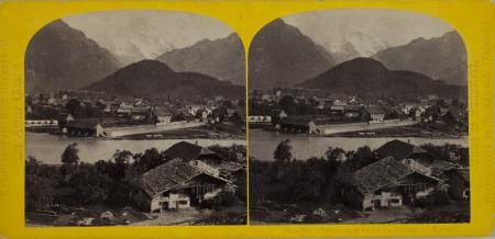 79.-Panorama d'Interlaken et de la Jungfrau. Suisse.
