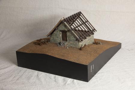 Modello architettonico di fienile di Viù, Valli di Lanzo