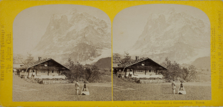 90.-Vue du Wetterhorn à Grindelwald. Suisse.