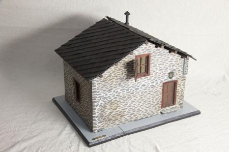Modello architettonico del Rifugio Geat Valgravio, Val di Susa