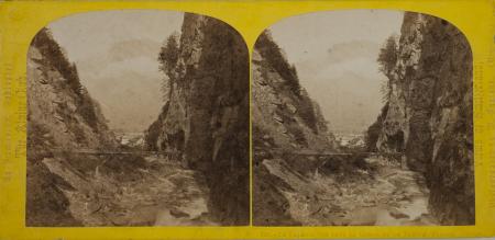 190.- Le Falknis vue dans la Gorge de la Tamina. Ragatz. Suisse.