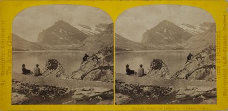 230.-Le Dauben see passage de la Gemmi. Suisse.