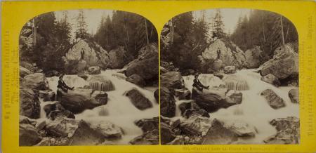 290.-Cascade dans la Gorge de Rosenlaui. Suisse.