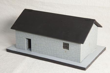 Modello architettonico del Rifugio Vittorio Emanuele 2. alla Majella