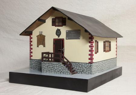 Modello architettonico del Rifugio P. G. Toesca di Castellazzo