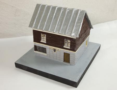 Modello architettonico del Rifugio M[ettolo] Castellino