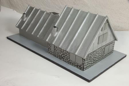 Modello architettonico del Rifugio Garelli