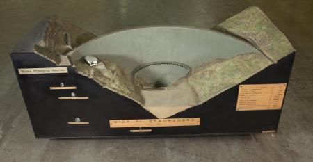 Modello architettonico della Diga di Beauregard, Valgrisenche