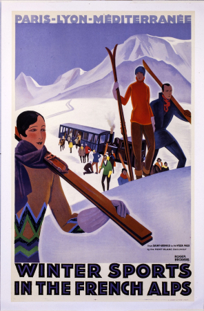 Winter sports in the french Alps