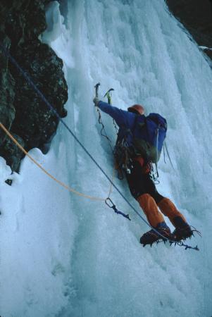 [Francia, Alpi del Delfinato]:  Ailefroide Occid[entale], Route Grassi Salino Luzi, Chute de glace a la face NW