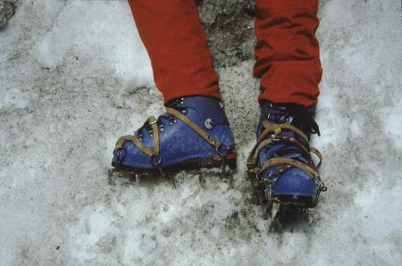 [Alpinisti e arrampicata su ghiaccio: Ghiacciaio di Pre de Bar]