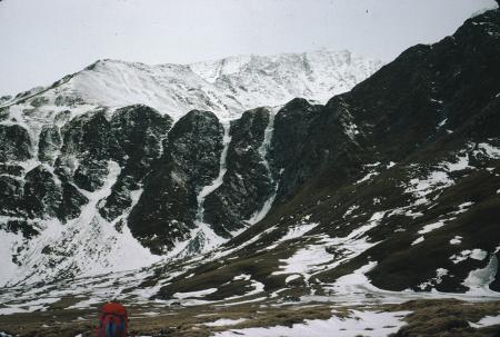 [Piemonte, Val Varaita, Vallone di Bellino: l'anfiteatro di Ciabriera con da sinistra a destra: Cascata Azzurra, Black Marasma, Limo Nero]