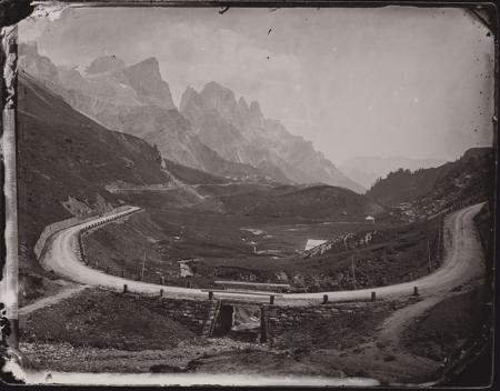"""[Franz Dantone """"Pascalin"""": Dolomiti di Fassa, Gruppo delle Pale di San Martino e Primiero, Passo Rolle]"""