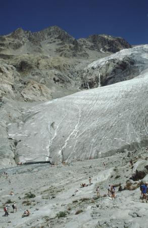 [Francia, Massiccio degli Écrins: fronte Glacier Blanc]