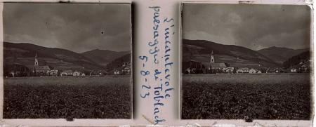 [Raccolta di lastre stereoscopiche delle Dolomiti: ritratti ambientati e paesaggi tra cui Val Pusteria e Cadore]