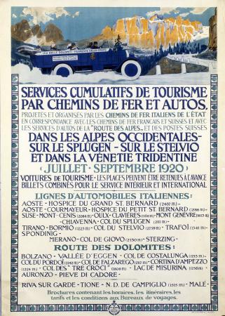 Services cumulatifs de tourisme par chemins de fer et autos