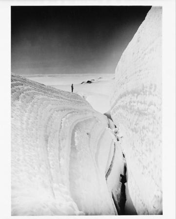 A huge crevasse, Monte Bertha Alaska