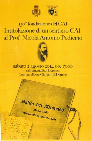Intitolazione di un sentiero CAI al prof. Nicola Antonio Pedicino
