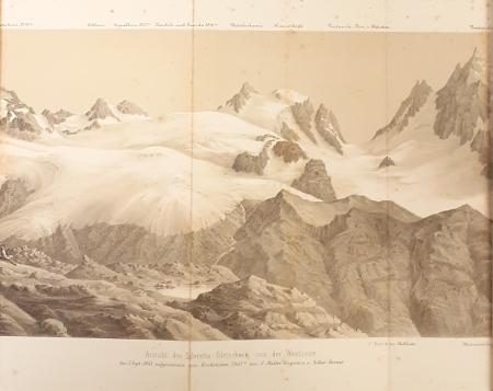 Ansicht des Silvretta Gletschers von der Westseite