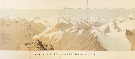 Vom Gipfel des Schwarzhorns 3207 Mr.