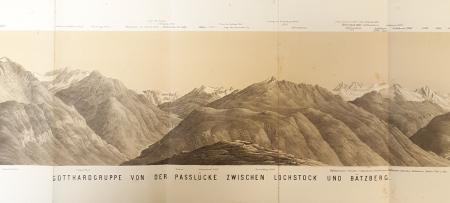 Gotthardgruppe von der Passlücke zwischen Lochstock und Bätzberg