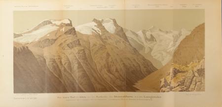 Das Lenta Thal im Adula mit der Nordseite des Rheinwaldhorns und dem Lentagletscher