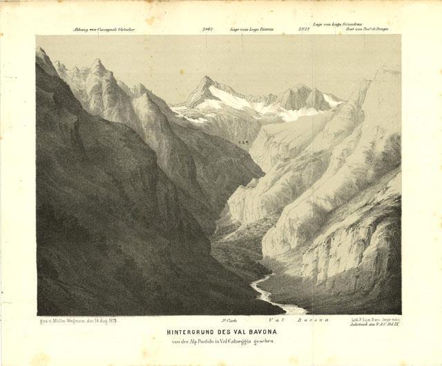Hintergrund des Val Bavona