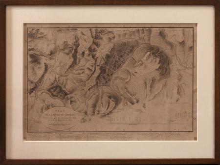 Plan de la route du Simplon commencée par les Français et achevée par eux en 1807