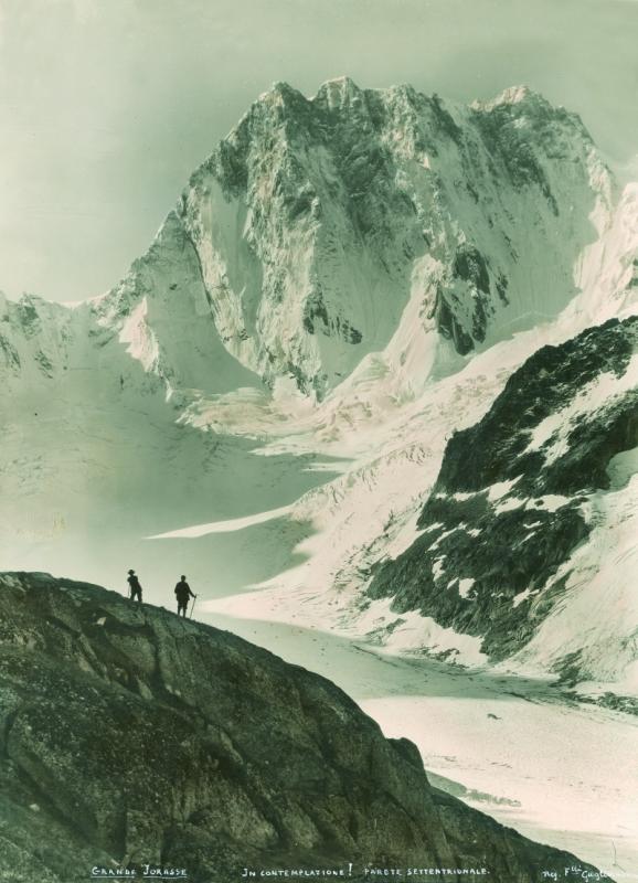 In contemplazione! Grand Jorasse [sic], parete settentrionale [1900 ca.]