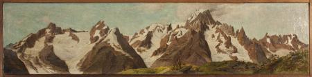 [Il Gruppo del Monte Bianco dal Colle Baraccon]