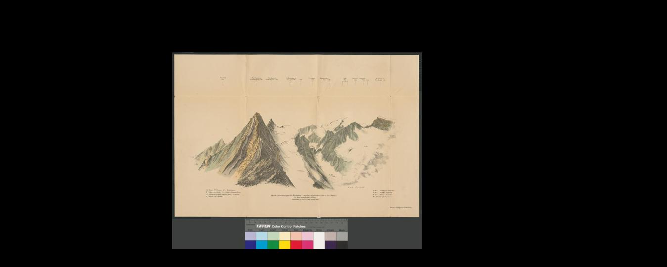 Ansicht gezeichnet von der Nordspitze (zwischen Brigelserhorn 3060 u. Piz Tumbif)