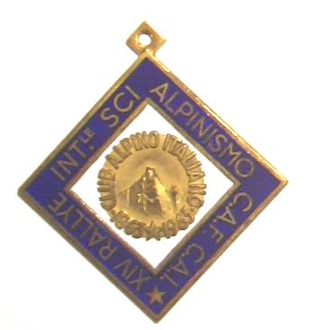 14. Rallye Int.le Sci Alpinismo C.A.F. C.A.I. Club Alpino Italiano 1863-1963