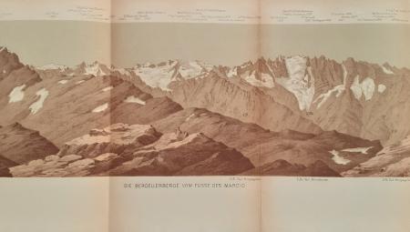 Die Bergellerberge vom Fusse des Marcio