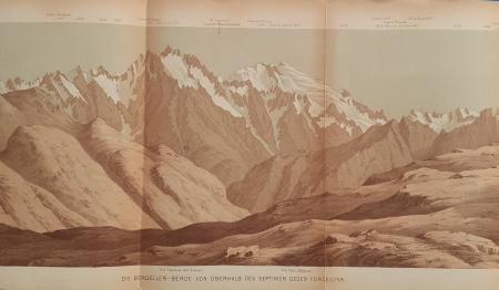Die Bergeller-Berge von oberhalb des Septimer gegen Forcellina
