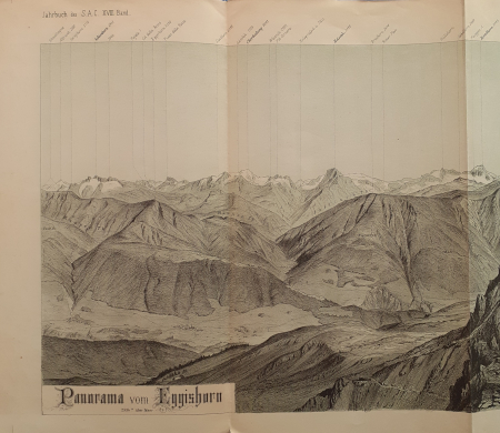 Panorama vom Eggishorn, 2934 m. über Meer