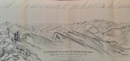 Vue panoramique prise du sommet des Rochers de Naye (2044 m)