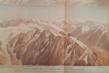 Aussicht vom Balmhorn, 3712 m. auf die Berner Hochalpen, das Gasterenthal & Lötschenthal