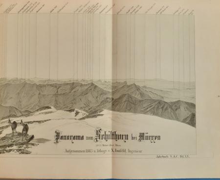 Panorama vom Schilthorn bei Mürren, 2973 Meter über Meer